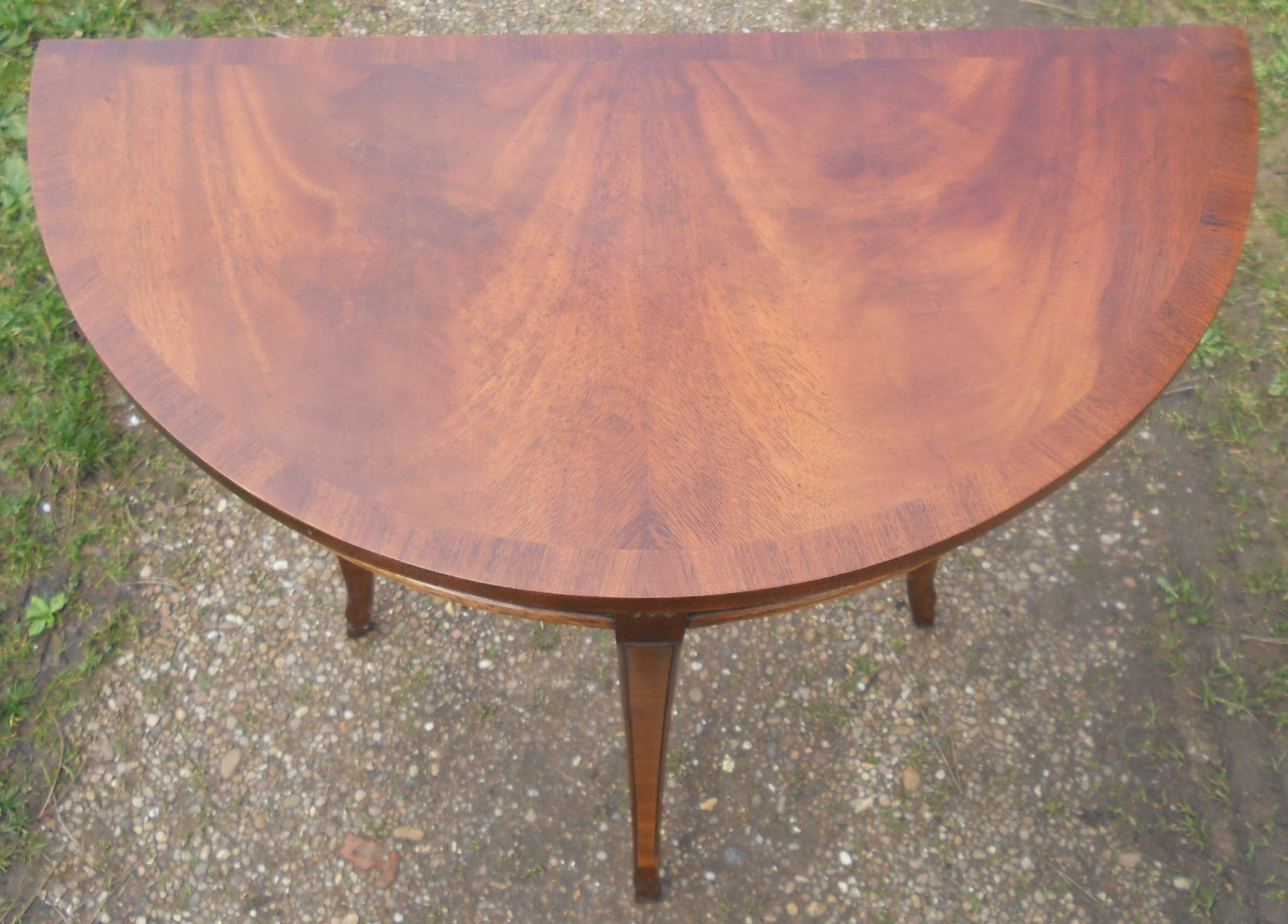 Small Mahogany Console Table By Reprodux